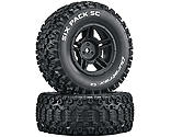 Duratrax - Six-Pack SC C2 Mounted Tires: Slash 4x4 Blitz Front Rear (2)