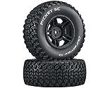 Duratrax - Picket SC C2 Mounted Tires: Slash 4x4 Blitz Front Rear (2)