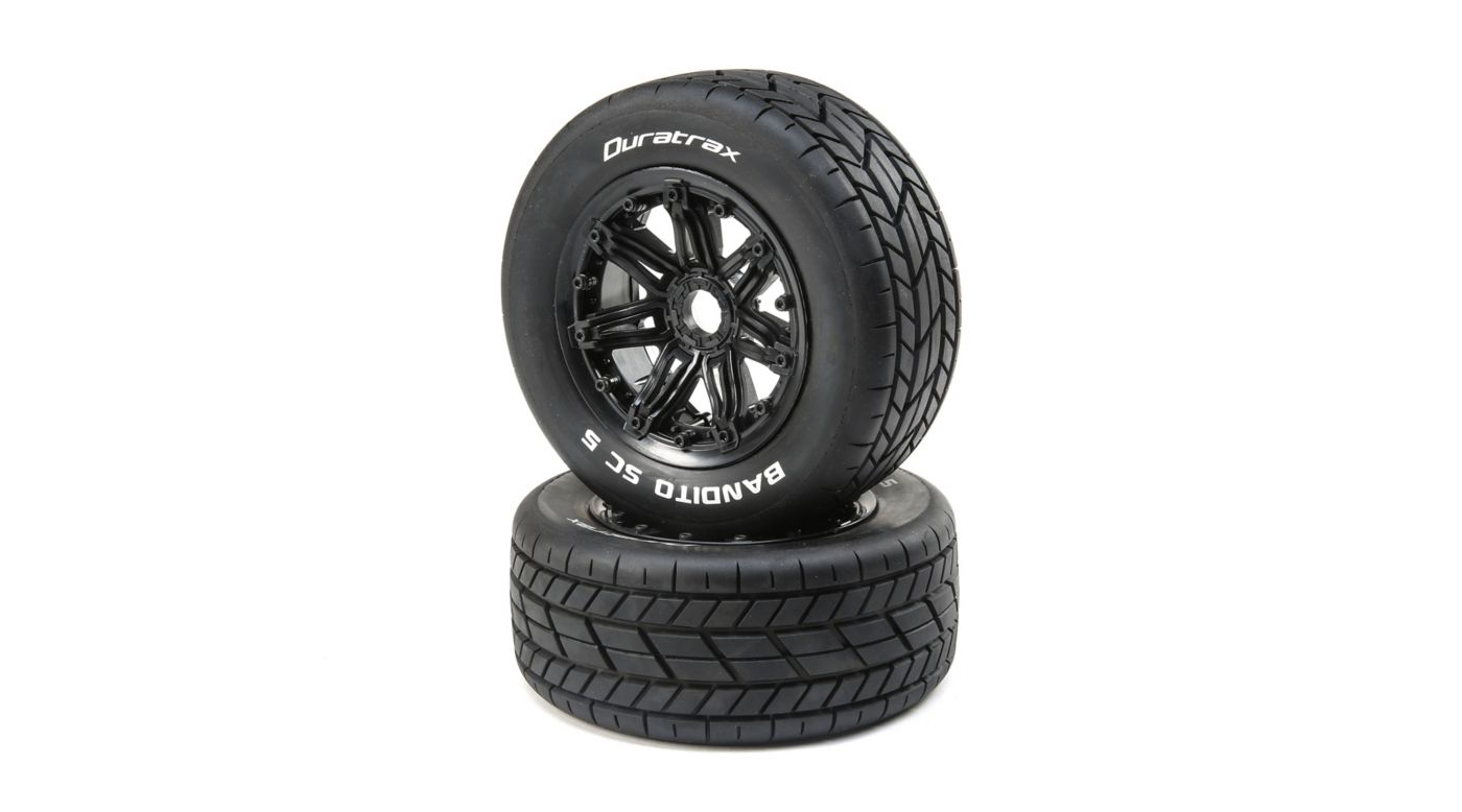 Image for Bandito 1/5 SC Sport Mounted Black Tires (2) from HorizonHobby