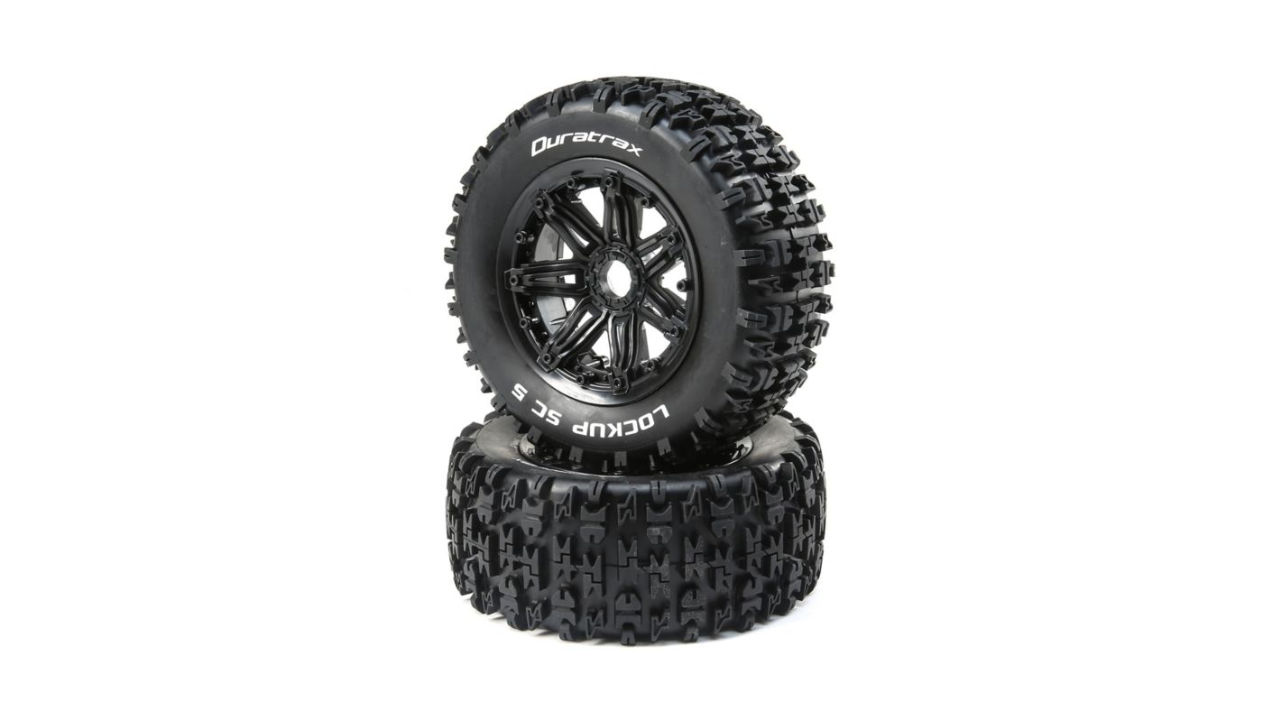 Image for Lockup 1/5 SC Sport Mounted Black Tires 24mm (2) from HorizonHobby