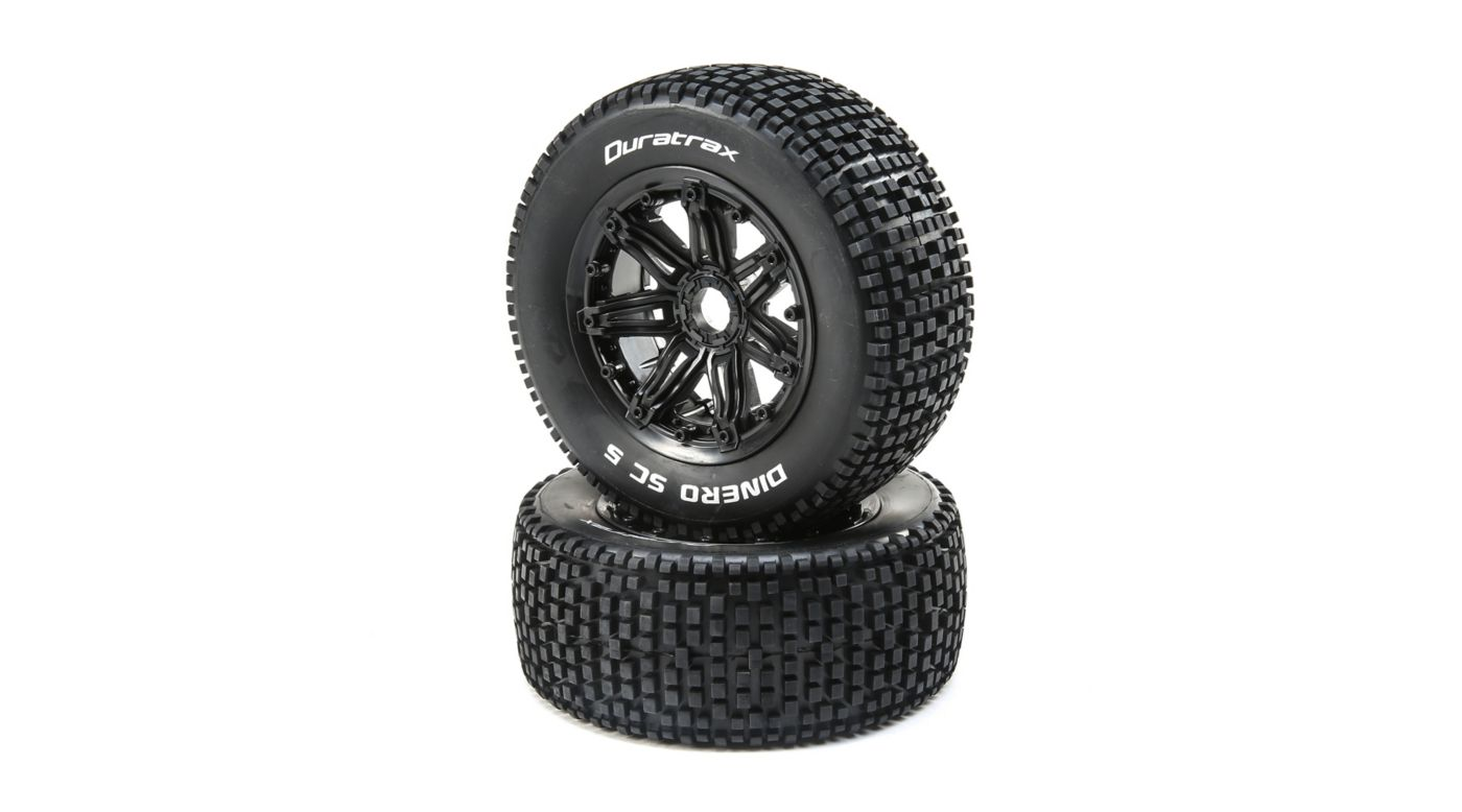 Image for Dinero 1/5 SC Sport Mounted Black Tires 24mm (2) from HorizonHobby