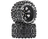 Duratrax - Six Pack MT 2.8 Mounted Tires, Black 14mm Hex (2)