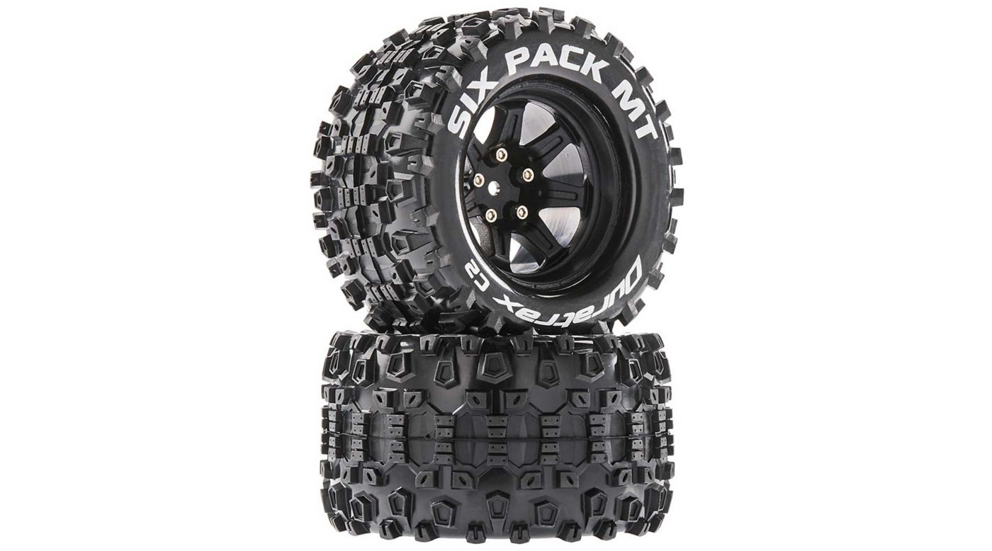 Image for Six Pack MT 2.8 Mounted Tires, Black 14mm Hex (2) from HorizonHobby