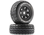 Duratrax - Bandito SC Mounted Soft Tires, Black 17mm Hex (2)