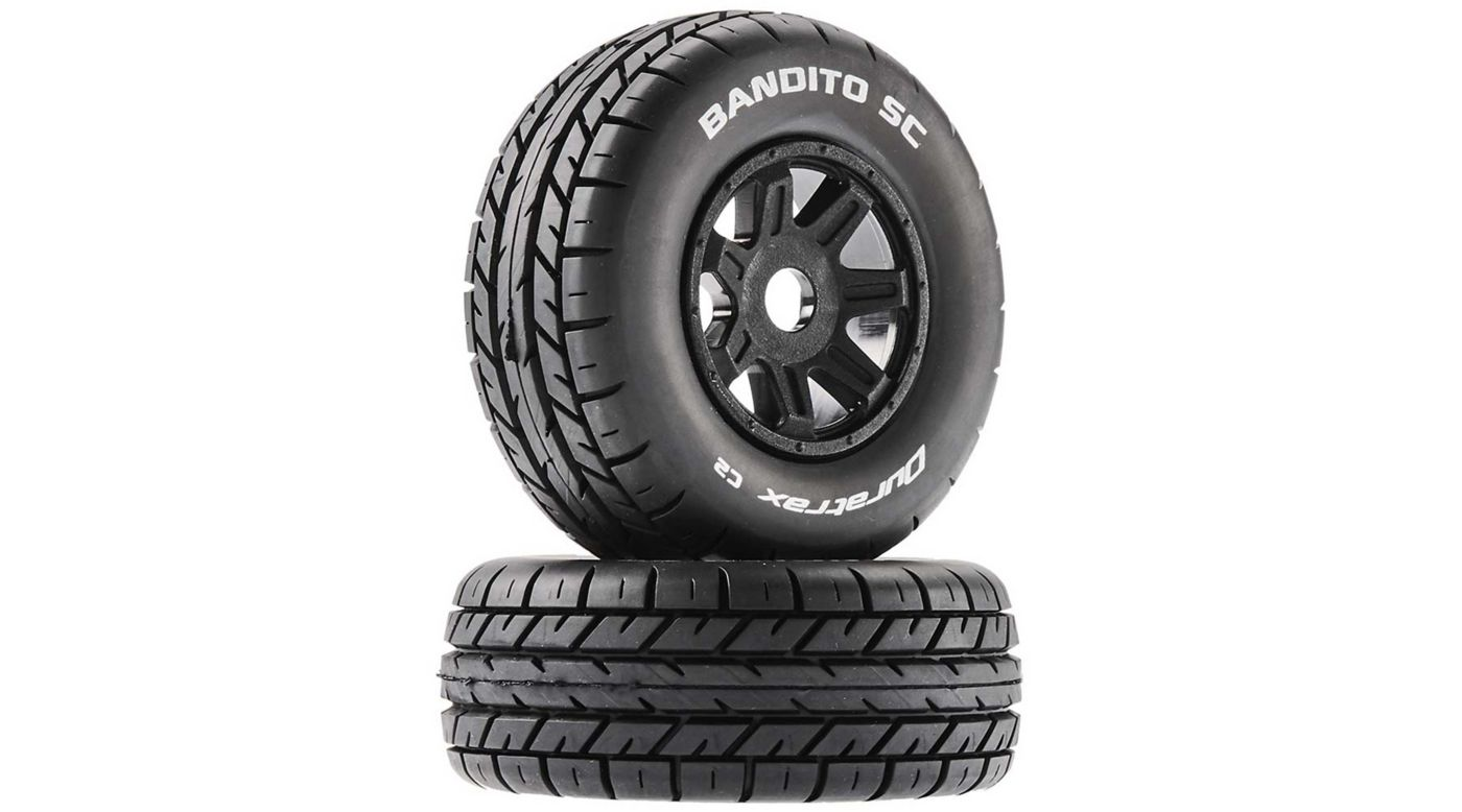 Image for Bandito SC Mounted Soft Tires, Black 17mm Hex (2) from HorizonHobby