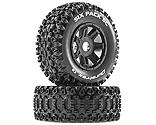 Duratrax - Six Pack SC Mounted Soft Tires, Black 17mm Hex (2)