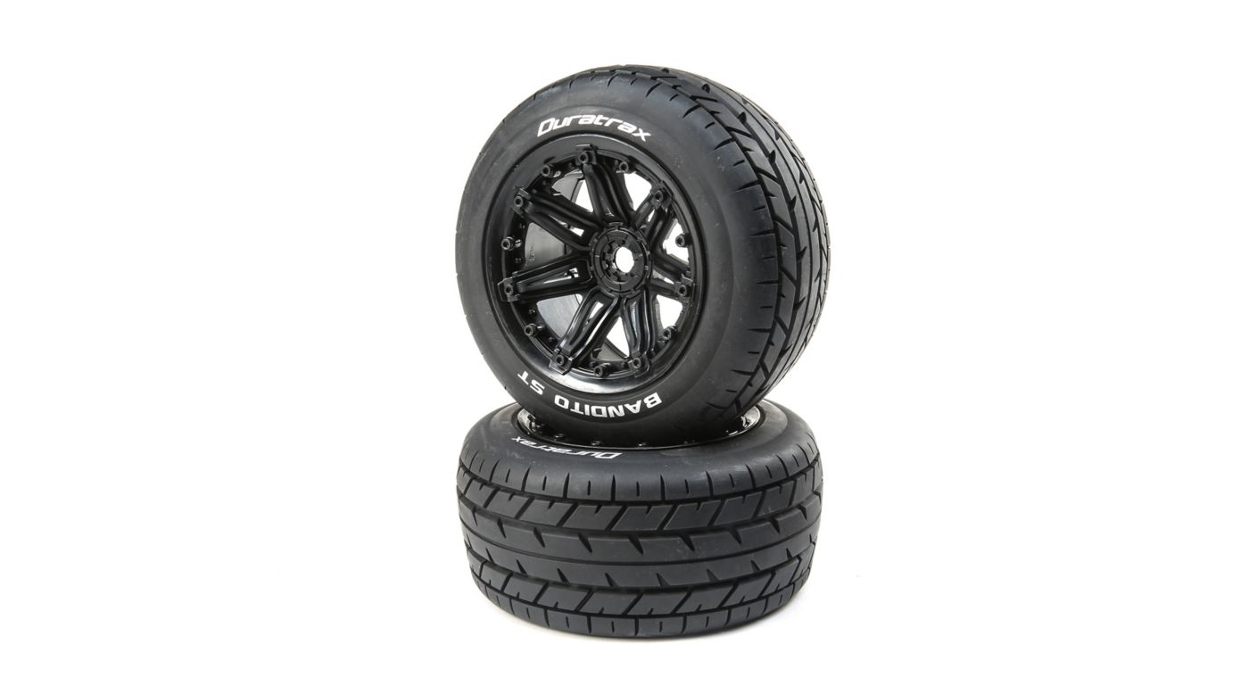 Image for Bandito 1/8 ST Sport Mounted Black Tires 17mm (2) from HorizonHobby