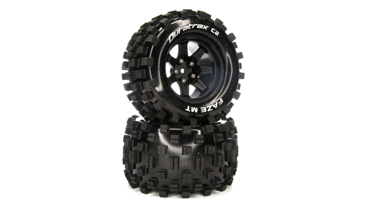 Image for FAZE MT 2.8 Mounted F/R Tires, C2 14mm Black (2) from HorizonHobby