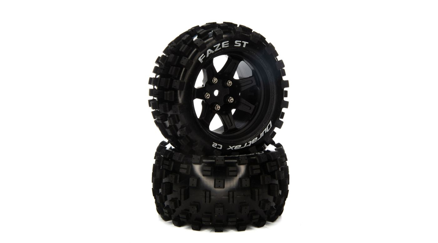 Image for FAZE ST 2.8 Mounted F/R Tires, C2 14mm Black (2) from HorizonHobby