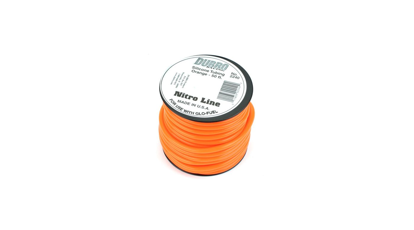 Image for Silicone 50' Fuel Tubing, Orange from HorizonHobby