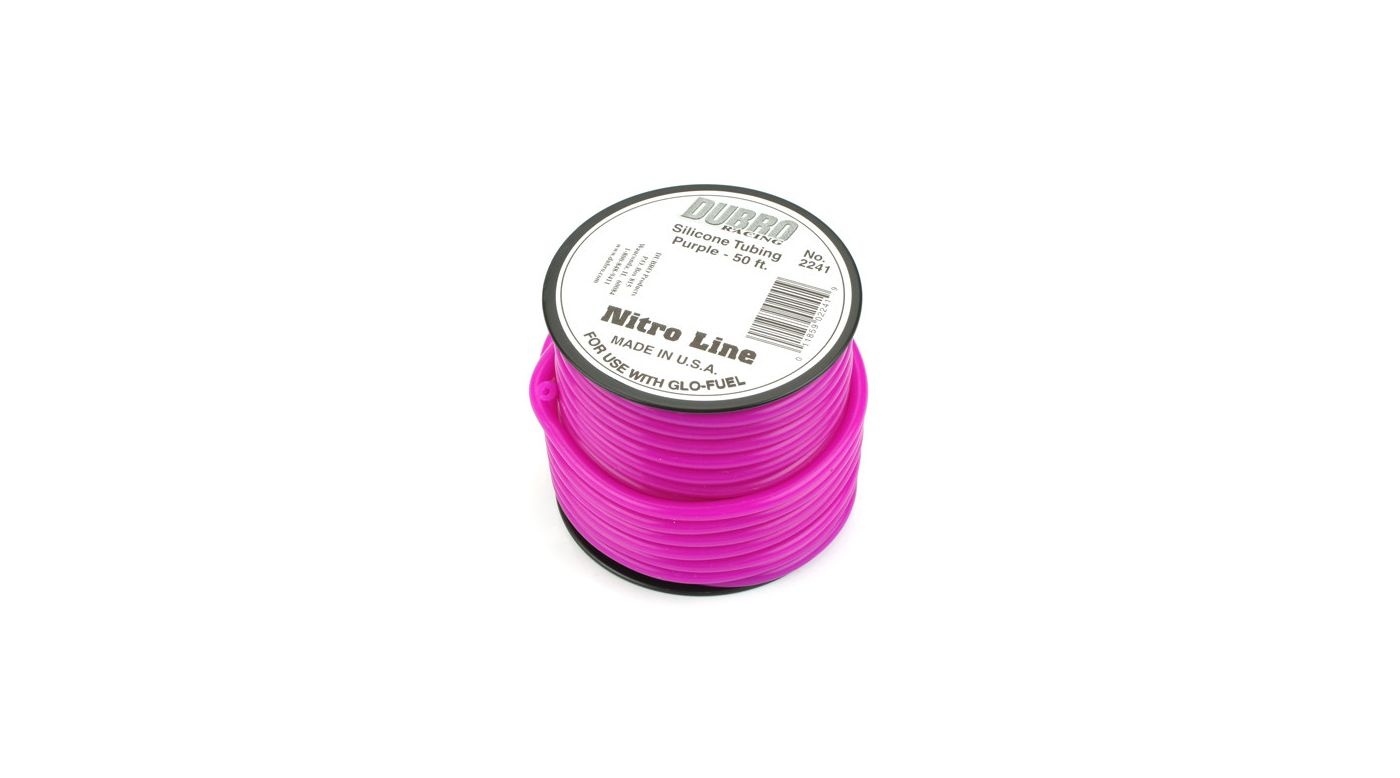 Image for Silicone 50' Fuel Tubing, Purple from HorizonHobby