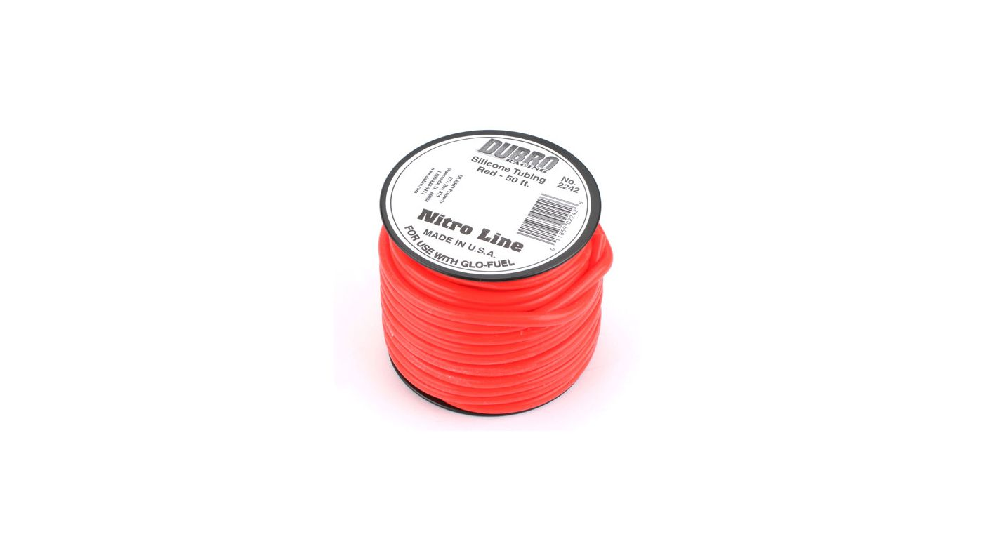 Image for Silicone 50' Fuel Tubing, Red from HorizonHobby