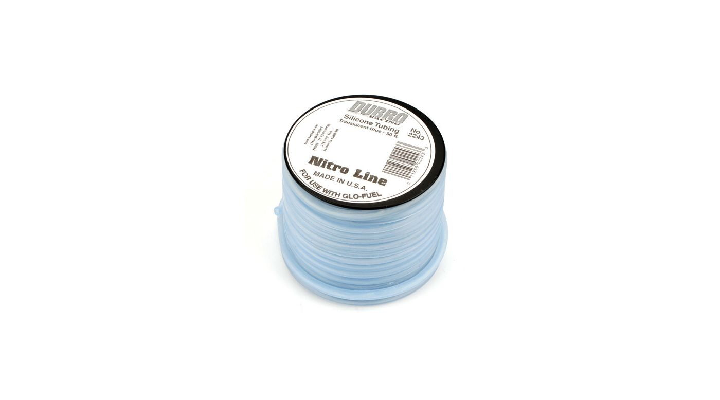 Image for Silicone 50' Fuel Tubing, Blue from HorizonHobby