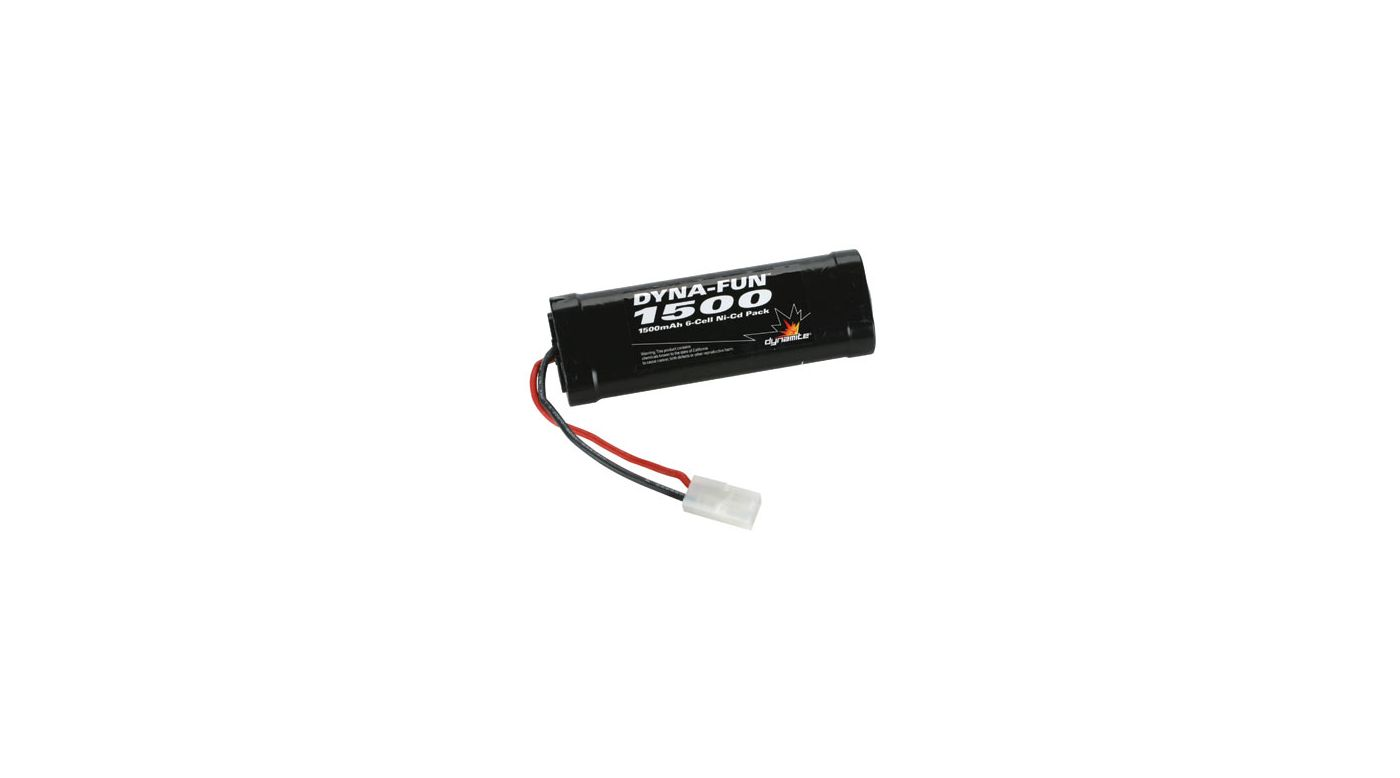 Image for Dyna-Fun 1500mAh 6-Cell NiCd Battery from HorizonHobby