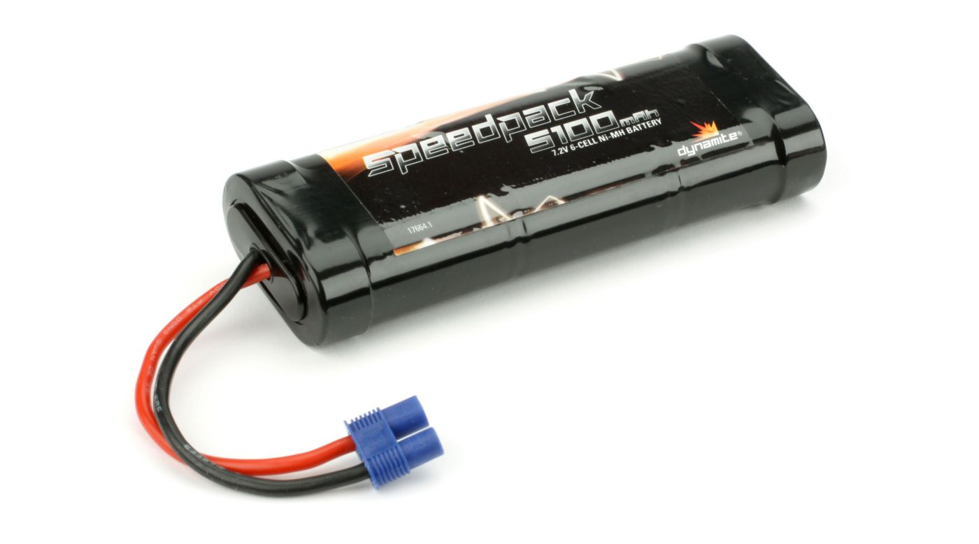 Image for Speedpack 7.2V 5100mAh NiMH 6-Cell Flat with EC3 Conn from HorizonHobby