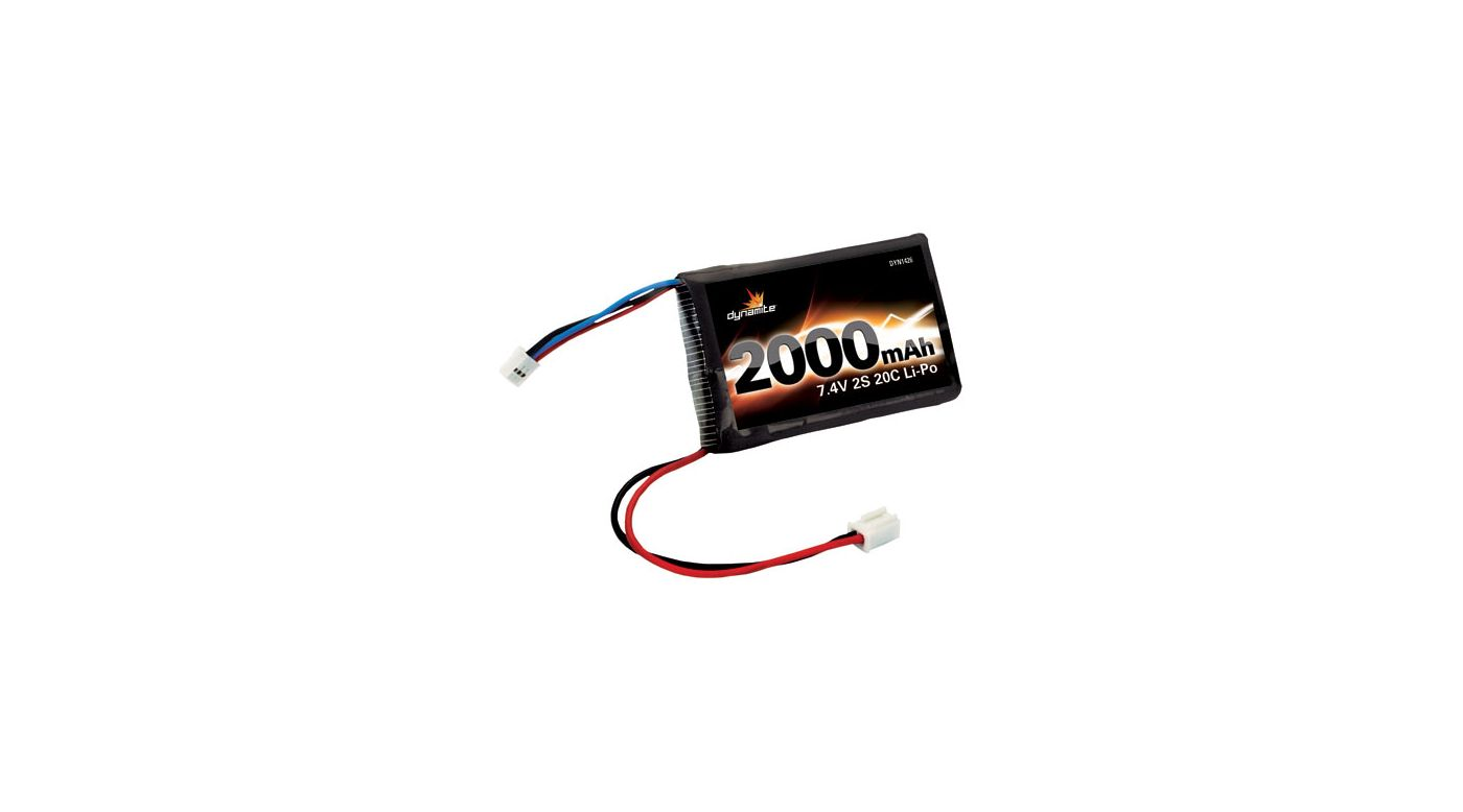 Image for 7.4V 2000mAh 20C 2S Li-Po: Mini-T, Mini-LST2, MDT from HorizonHobby