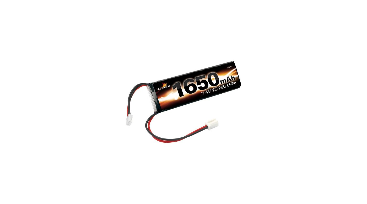 Image for 7.4V 1650mAh 25C 2S Li-Po: MS, MLM, 18T from HorizonHobby
