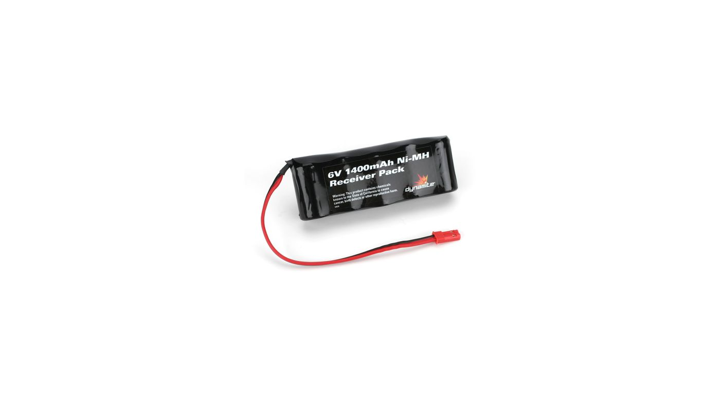 Image for 6V 1400mAh Ni-MH Receiver Flat Pack with JST from HorizonHobby
