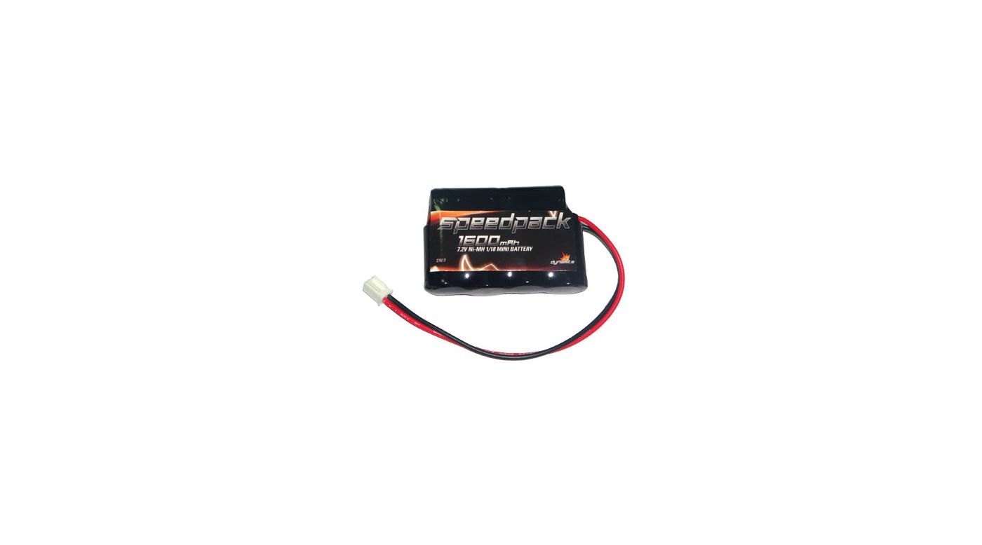 Image for 1600mAh 7.2V NiMH Battery: Mini-T, MLST/2 from HorizonHobby