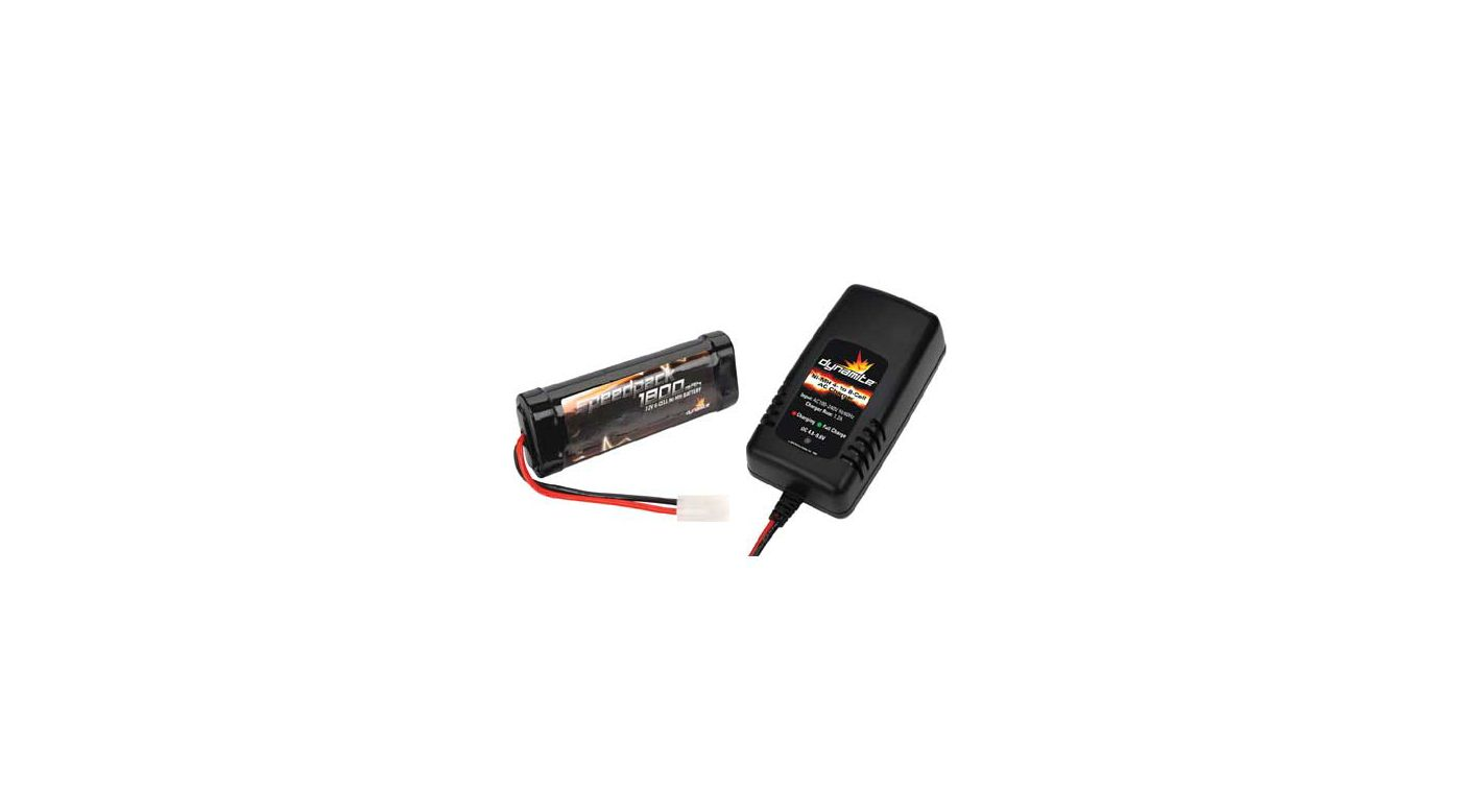 Image for 7.2V 1800mAh NiMh pack / 4-8 Cell AC 1.2A Charger from HorizonHobby