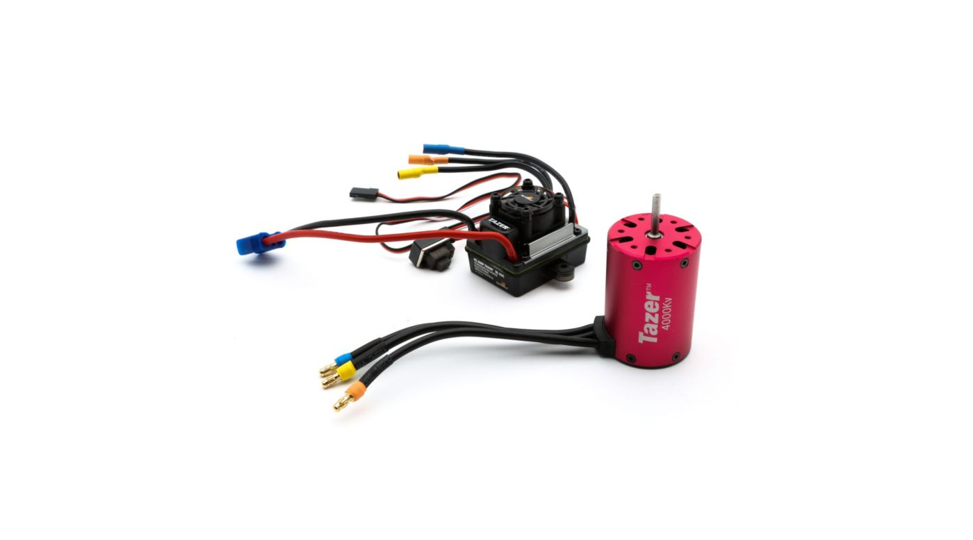 Image for Tazer 1/10 4 pole 4000Kv ESC/Motor Combo from HorizonHobby