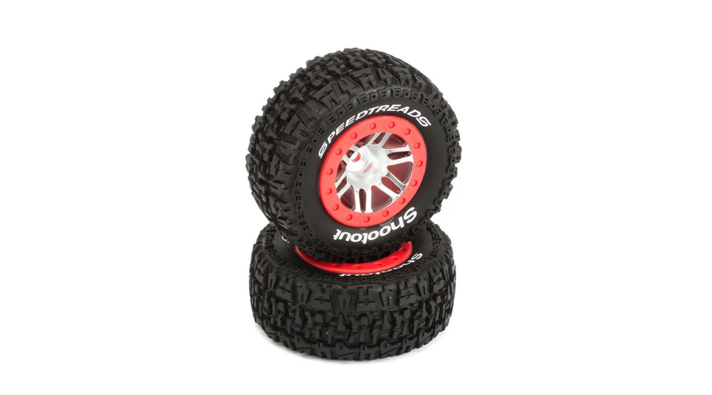 Image for SpeedTreads™ Shootout™ SC Tires Mounted: Slash Rear, Slash 4x4 Front/Rear, ECX (2) from HorizonHobby
