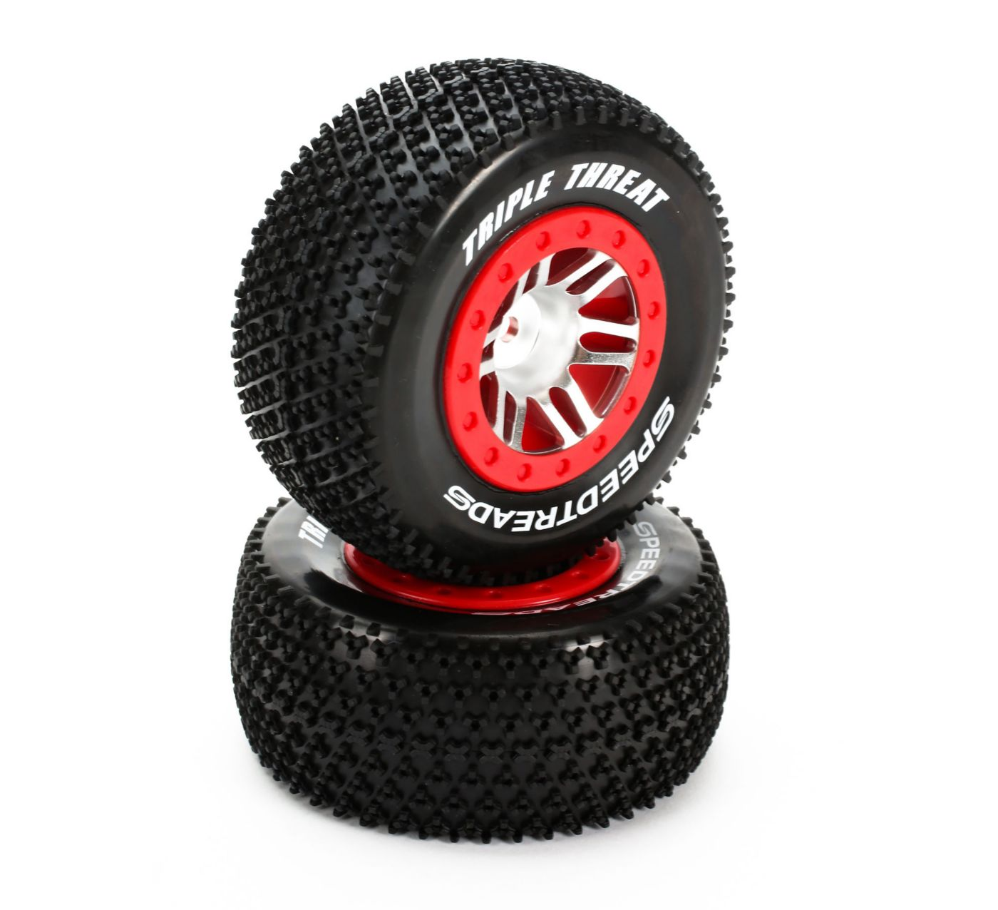 SpeedTreads™ Triple Threat™ SC tires Mounted: SLH R, 4X4 F/R, Front ECX (2)  (DYN5129)