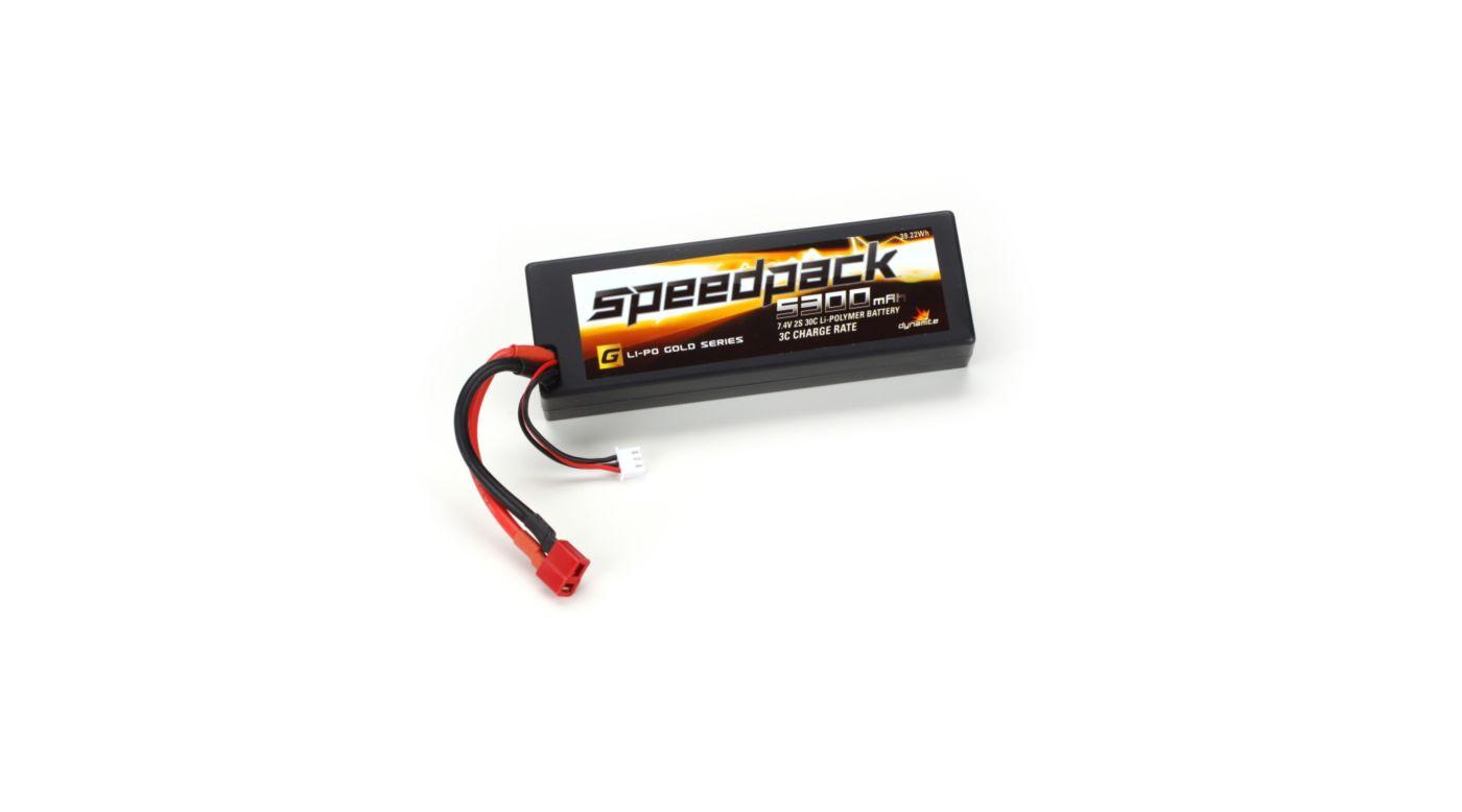 Image for Speedpack Gold 7.4V 5300mAh 2S 30C LiPo, Case: Deans from HorizonHobby