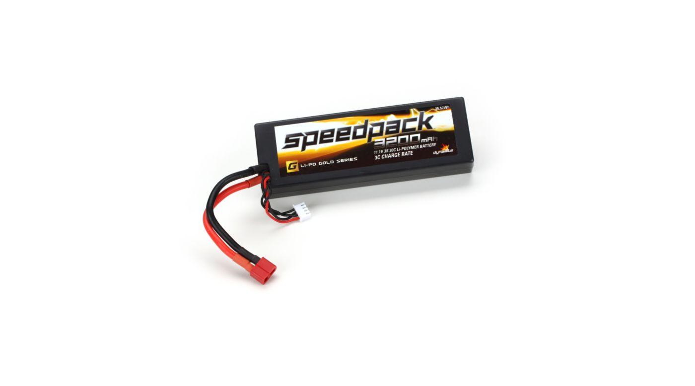 Image for SpeedPack Gold 11.1V 3200mAh3S 30C LiPo, Case: Deans from HorizonHobby