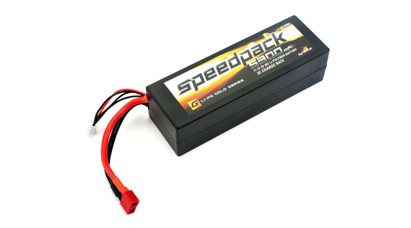 Image for SpeedPack Gold 11.1V 5300mAh 3S 30C LiPo, Case: Deans from HorizonHobby