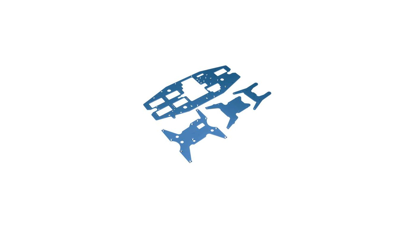 Image for Chassis Plate Set, Aluminum, Blue: LST, LST2,AFT from HorizonHobby