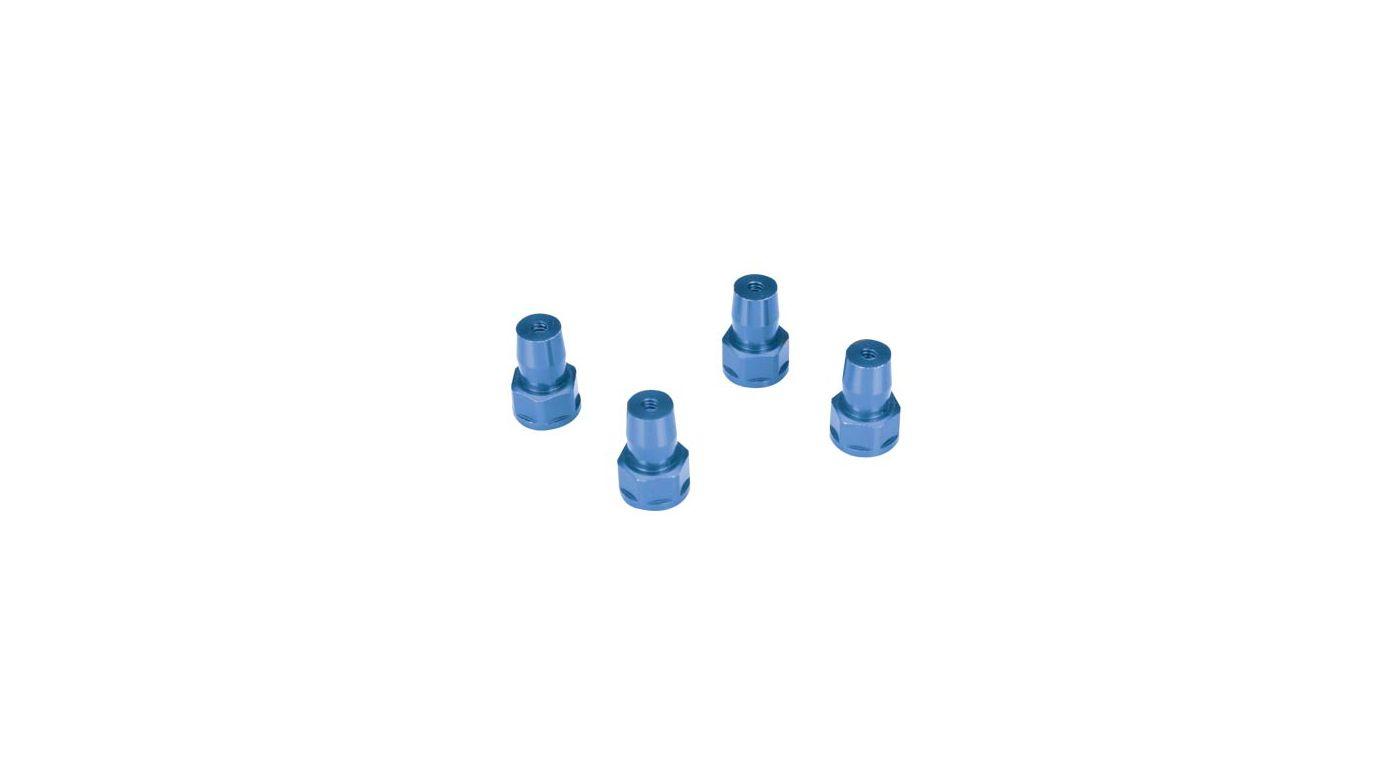 Image for Shock Bushings, Aluminum, Blue (4): LST, LST2, AFT from HorizonHobby