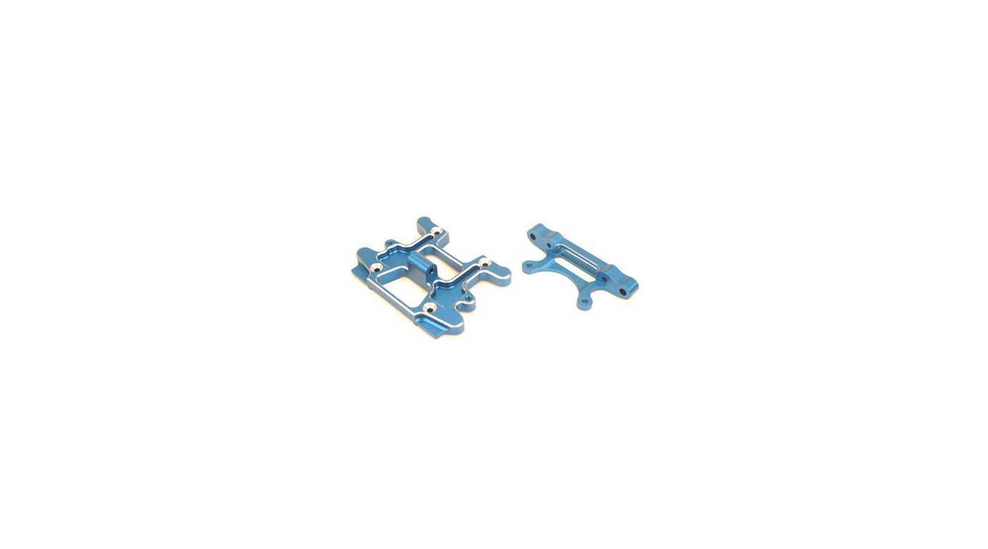 Image for Bulkhead Support, Aluminum, Blue: LST, LST2, AFT from HorizonHobby