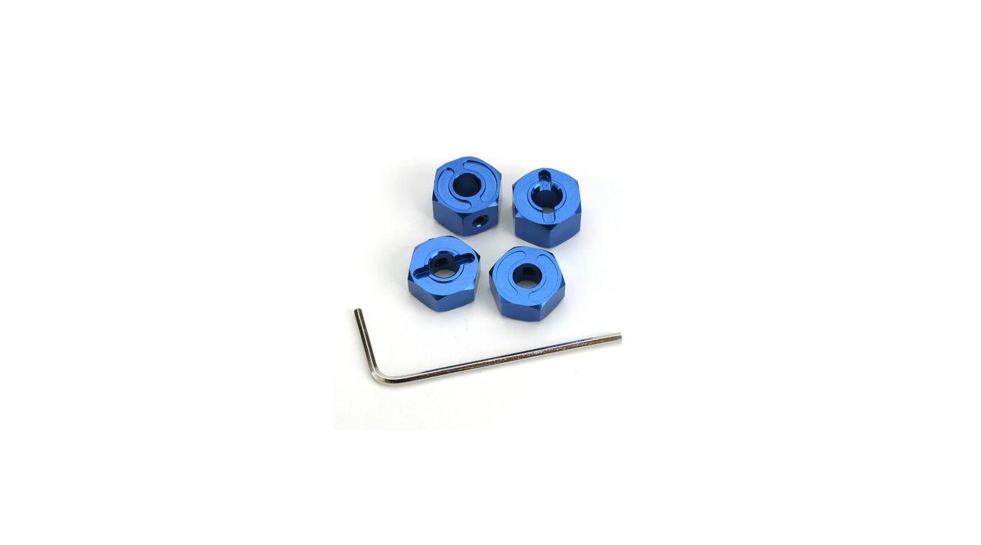 Image for Aluminum Wheel Hexes (4), Blue: SLH from HorizonHobby
