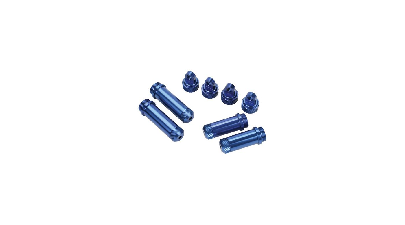 Image for Aluminum FR,R Shock Body Combo with Caps,Blue: SLH from HorizonHobby