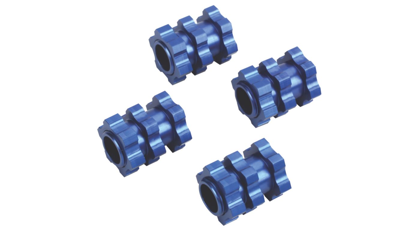 Image for Aluminum 17mm Wheel Adapter (4), BL: SLH 4x4 from HorizonHobby