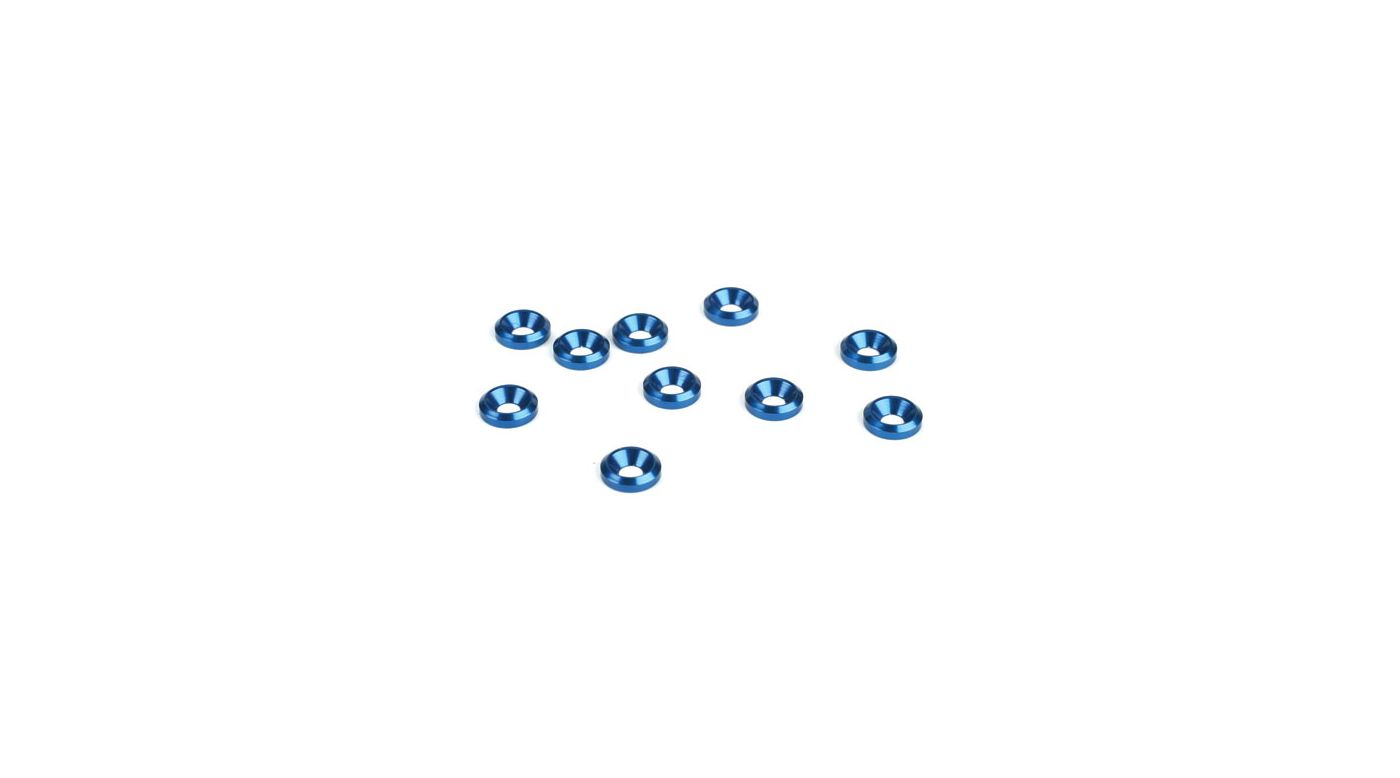 Image for 3MM Countersunk Washer, Blue (10) from HorizonHobby