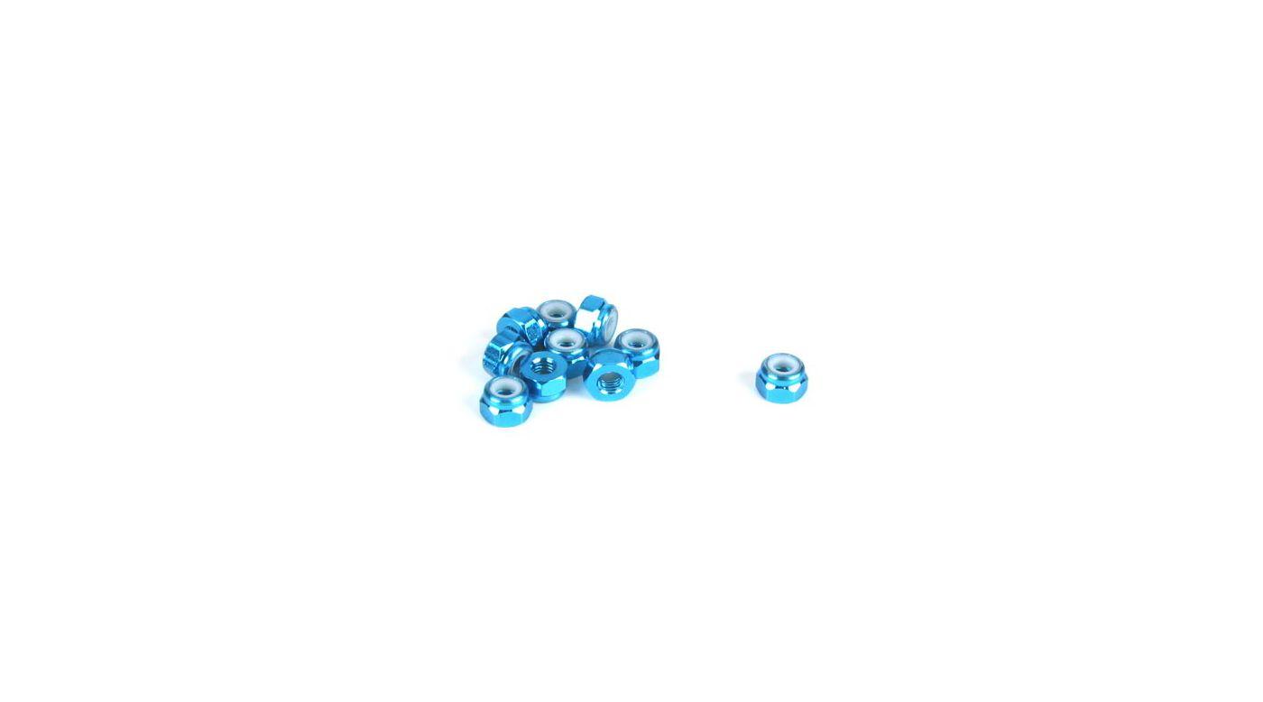 Image for 3mm Aluminum Lock Nut, Blue (10) from HorizonHobby