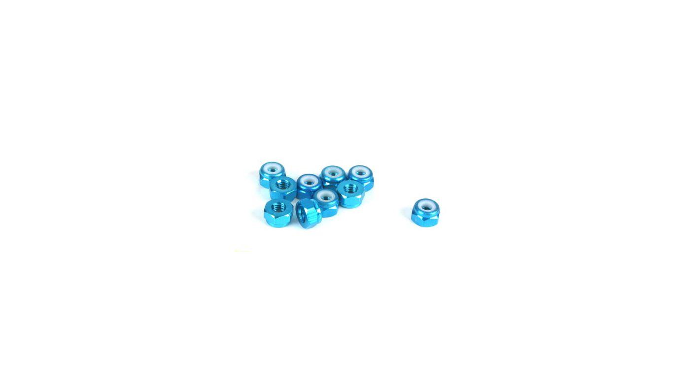 Image for 4mm Aluminum Lock Nut, Blue (10) from HorizonHobby