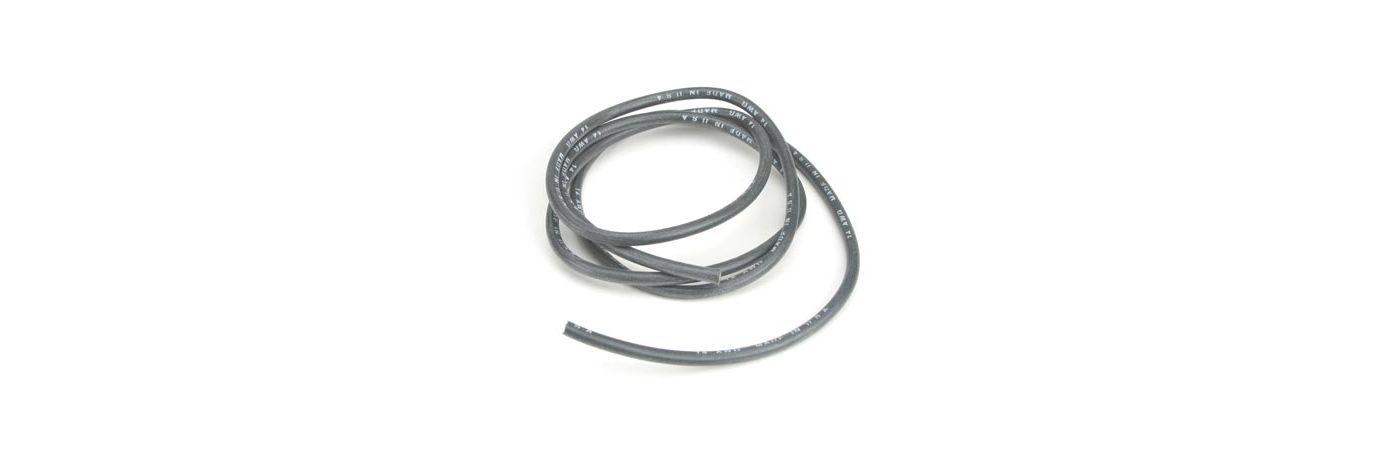 14AWG Silicone Wire 3', Black  (DYN8841)