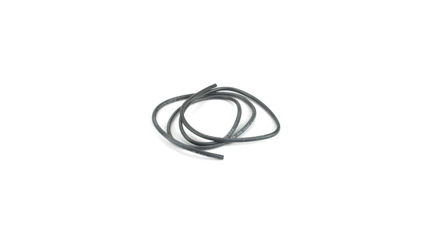 Image for 13AWG Silicone Wire 3', Black from HorizonHobby