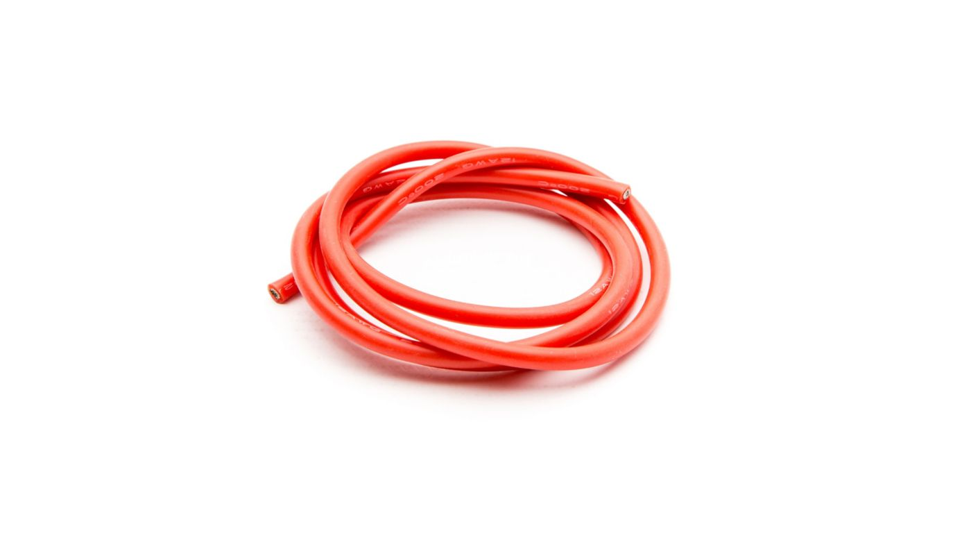 Image for 12 AWG Silicone Wire 3', Red from HorizonHobby