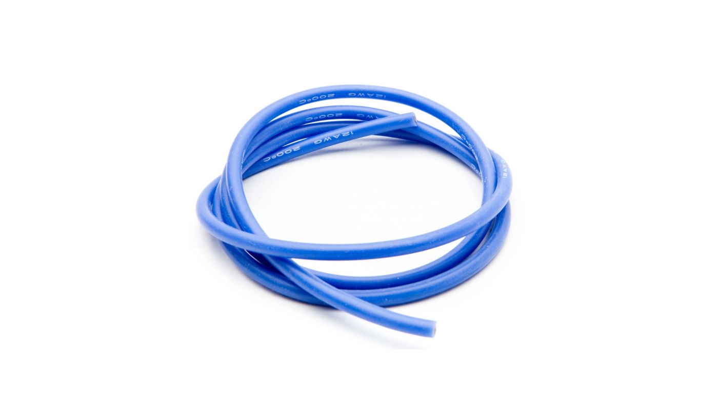 Image for 12 AWG Silicone Wire 3', Blue from HorizonHobby