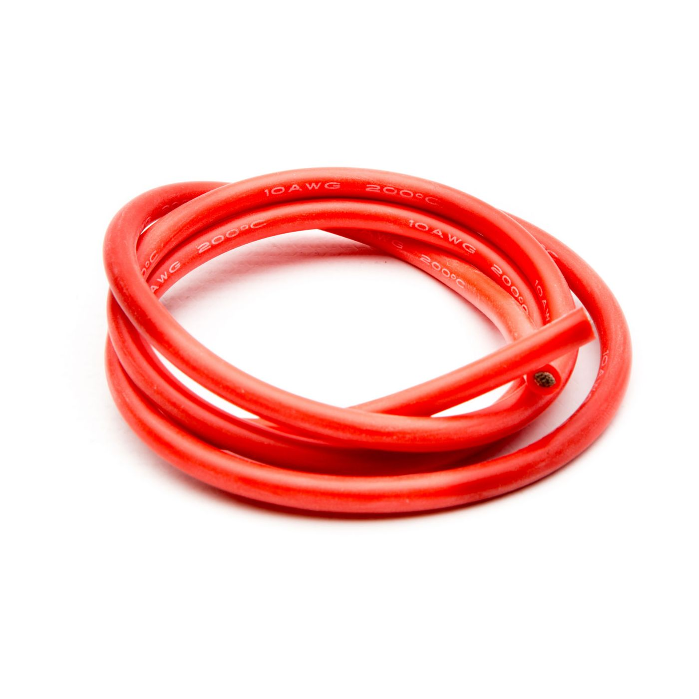 10 AWG Silicone Wire 3', Red