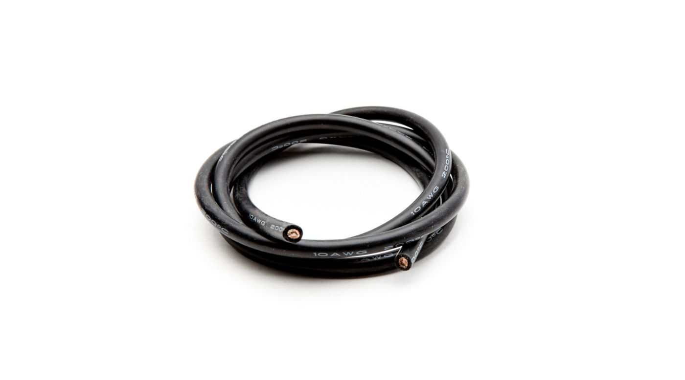 Image for 10 AWG Silicone Wire 3', Black from HorizonHobby