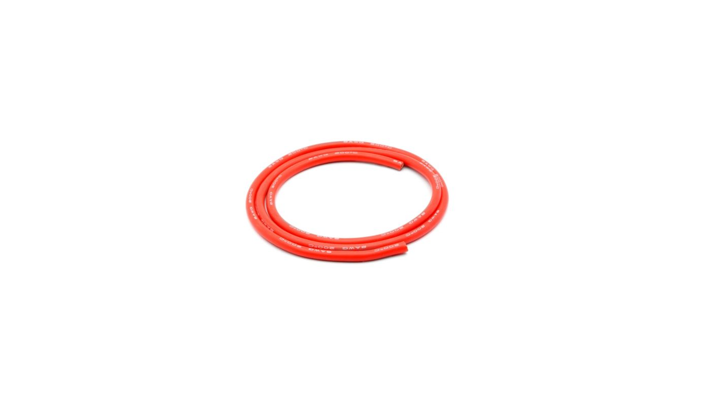 Image for 8 AWG Silicone Wire 3', Red from HorizonHobby