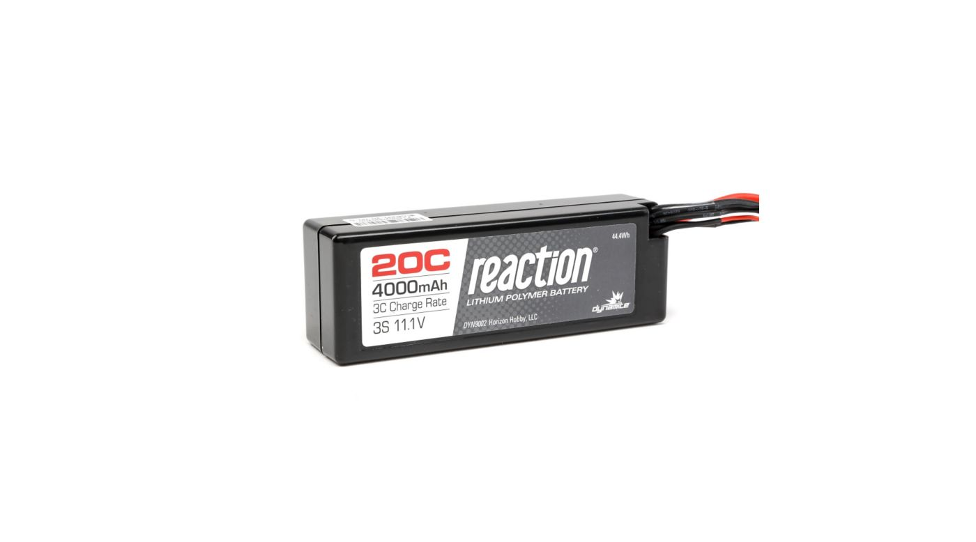 Image for Reaction 11.1V 4000mAh 3S 20C LiPo Hardcase: EC3 from HorizonHobby