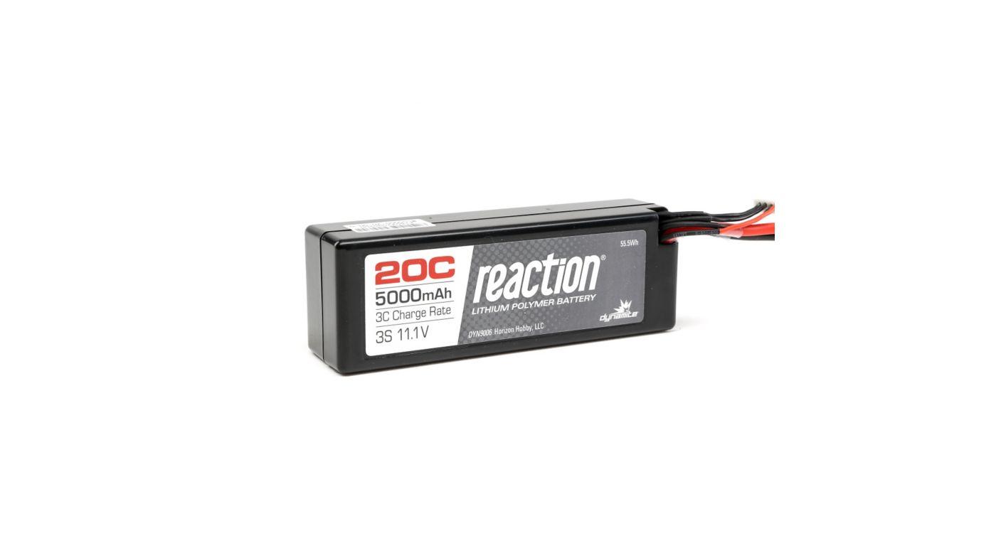 Image for Reaction 11.1V 5000mAh 20C 3S LiPo Hardcase: Deans from Horizon Hobby
