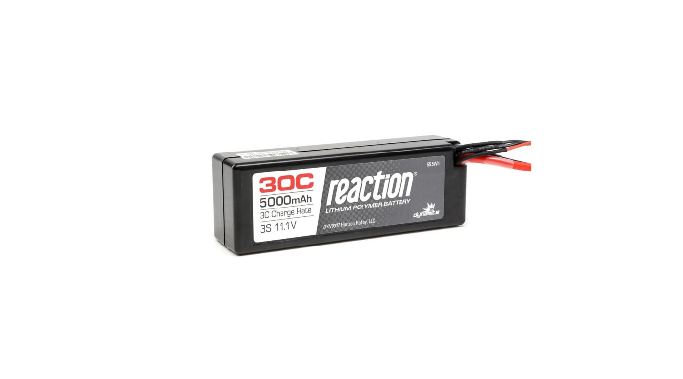 Image for 11.1V 5000mAh 3S 30C Reaction Hardcase LiPo Battery: EC3 from HorizonHobby