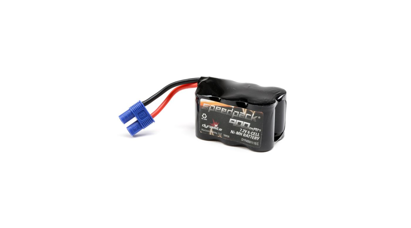 Image for 7.2V 900mAh 6-Cell 3+3 Hump NiMH Battery: EC3 from HorizonHobby
